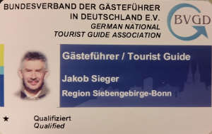 Tourist Guide im BVGD e.V. Region Siebengebirge, Bonn, Bad Honnef, Linz am Rhein